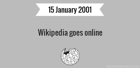 Wikipedia goes online