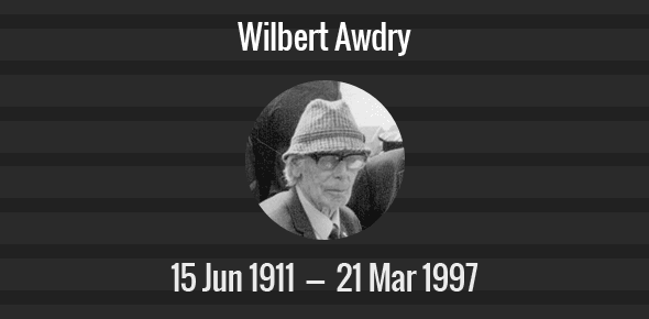 Wilbert Awdry Death Anniversary - 21 March 1997