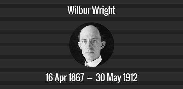 Wilbur Wright Death Anniversary - 30 May 1912