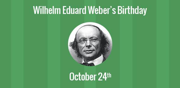 Wilhelm Eduard Weber Birthday - 24 October 1804