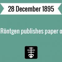 Wilhelm Röntgen publishes paper on X-rays.