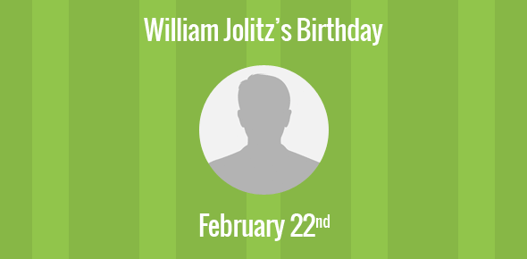 William Jolitz Birthday - 22 February 1957