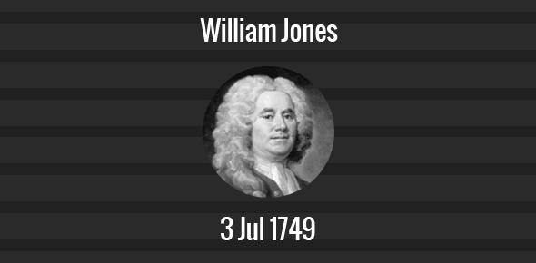 William Jones Death Anniversary - 3 July 1675