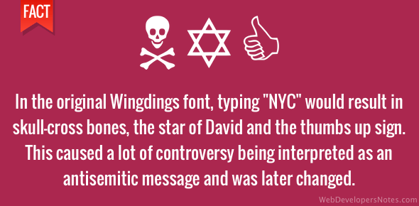Anti-semitic message in the Wingdings font?