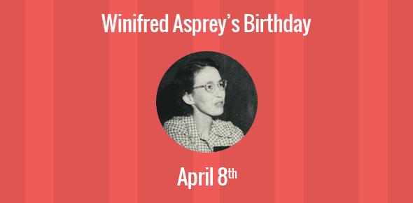 Winifred Asprey Birthday - 8 April 1917