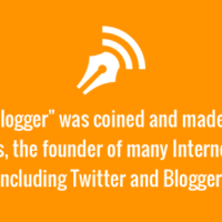 The word blogger coined by Twitter founded