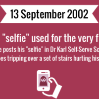 Selfie word used for the very first time