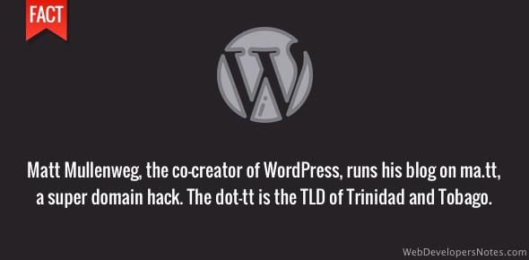 WordPress creator's blog runs on ma.tt