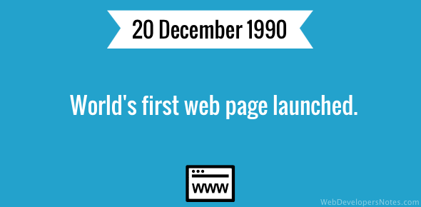 World's first web page launched