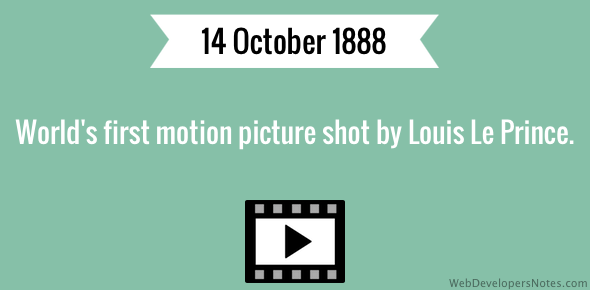 World's first motion picture shot