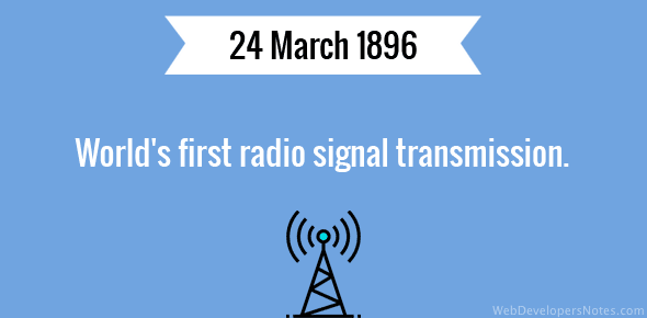 World's first radio signal transmission.