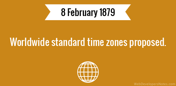 Worldwide standard time zones proposed.