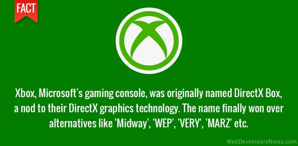 Origin of Xbox gaming console name