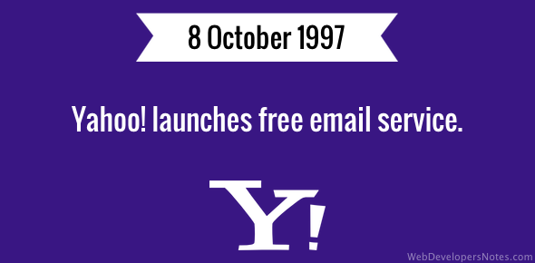 Yahoo launches free email service
